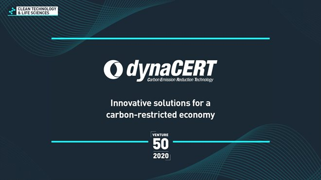 VIDEO dynaCERT Number 1 Ranked Company Across All Sectors on 2020 TSX Venture 50